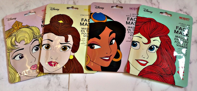 Disney Princess Face Mask Collection packages.