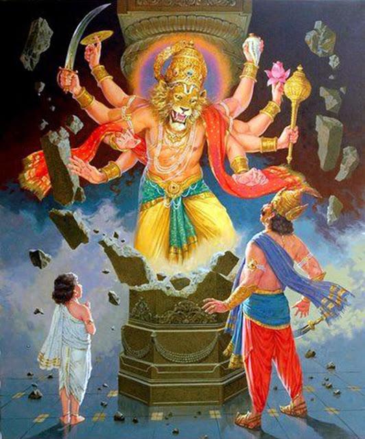 Lord Narasimha Baktha Prahlada Hiranyakashipu