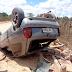 Pedreiro perde o braço em capotamento de carro na zona rural de Serrinha
