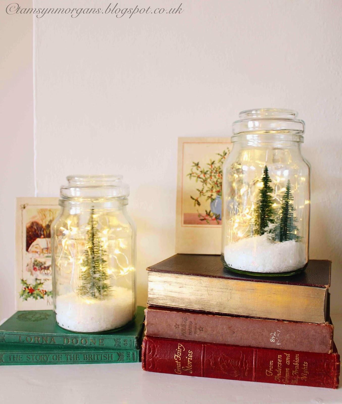 String Lights Make Your Own Homemade Snow Globes - The Villa On Mount Pleasant