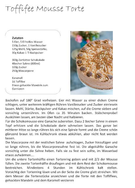 Toffifee- Mousse- Torte, Pomponetti, Karamellsauce