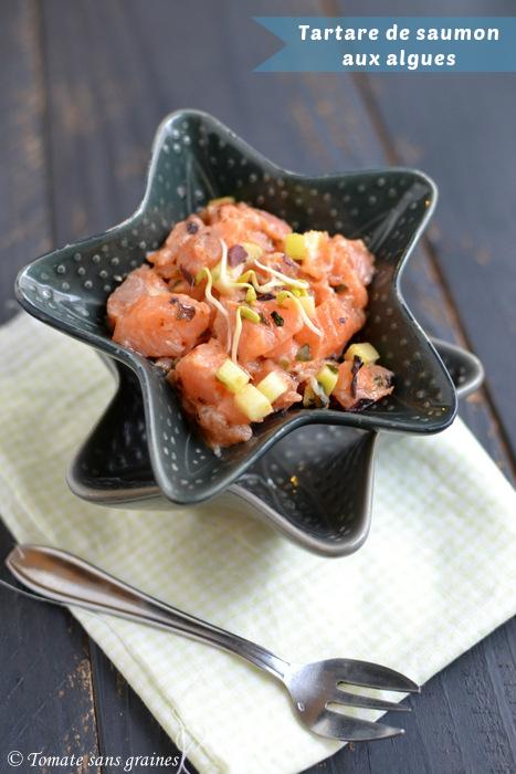 Tartare de saumon aux algues