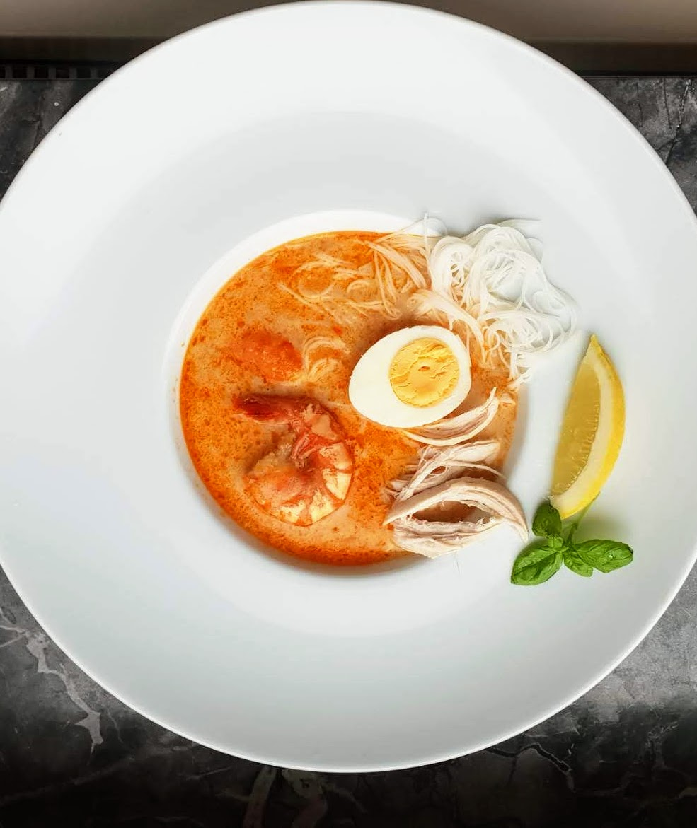 Rezept Laksa Jakarta, eineGlasnudel Kokosmilch Suppe