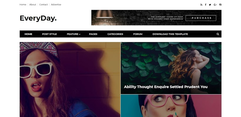 Everyday Free Blogger Template