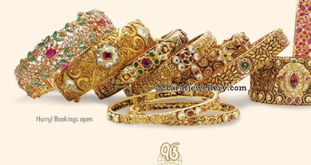 Precious Stones Antique Finish Designer Bangles