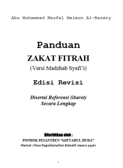 download buku panduan zakat fitrah lengkap imam syafii