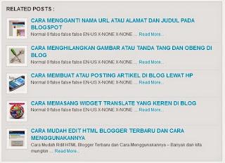 Cara Membuat Artikel Terkait / Related Post Dibawah Postingan Blogspot