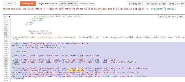 Đổi tìm kiếm Blogger nằm trên tìm kiếm Google
