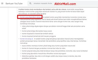 Alasan Menghapus Video Youtube