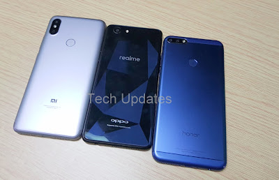 Xiaomi Redmi Y2 vs Realme 1 vs Honor 7C