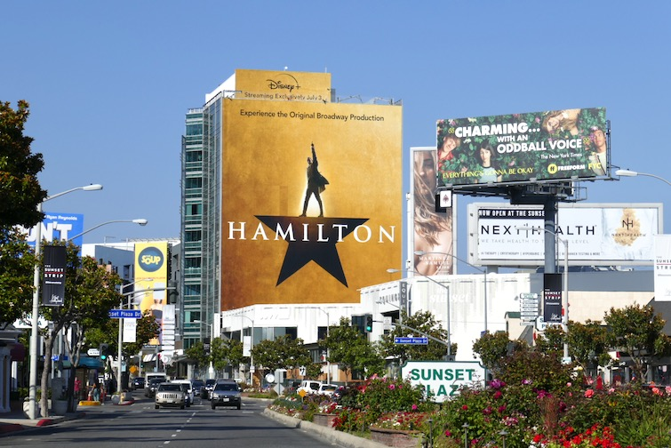 Giant Hamilton billboard