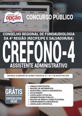 Apostila Concurso Crefono 4 2020 PDF Edital Online Inscrições