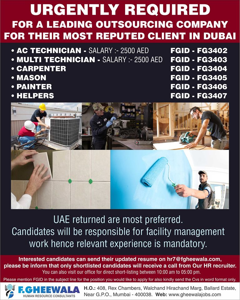 Outsourcing Company requirement in Dubai