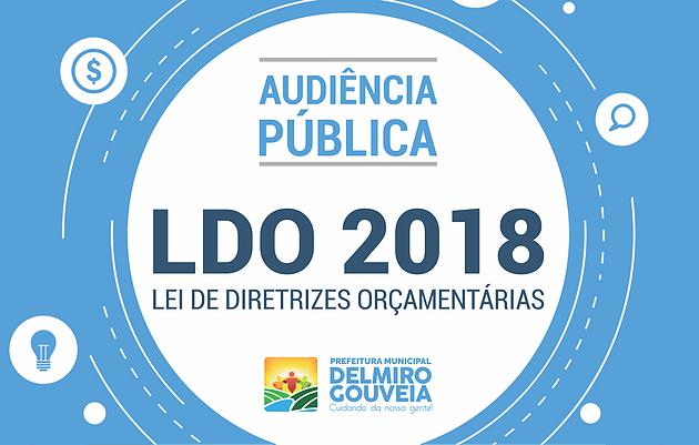 Em Delmiro Gouveia, participe nesta quarta-feira (13) da audiência pública da Lei de Diretrizes Orçamentárias