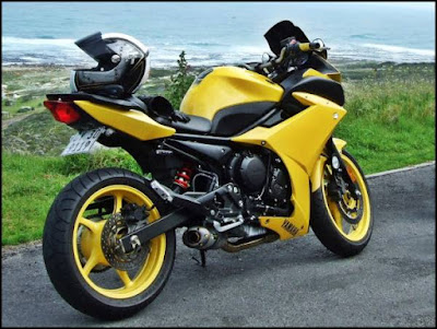 Yamaha FZ6R side view image