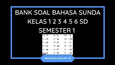 Soal Bahasa Sunda Semester 1 Kelas 1 2 3 4 5 6 SD MI