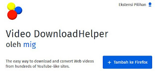 Add-ons video download helper