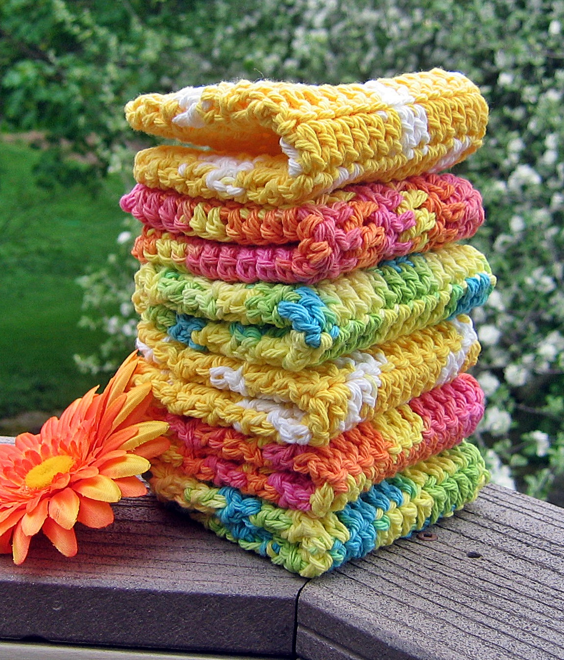Washcloths Crochet: Handmade By Annabelle: 8 Steps To Beautiful Crochet Washcloths