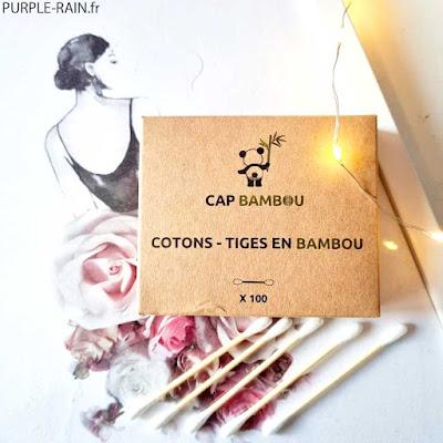 PurpleRain Biotyfull Box Septembre : coton-tige Cap Bambou