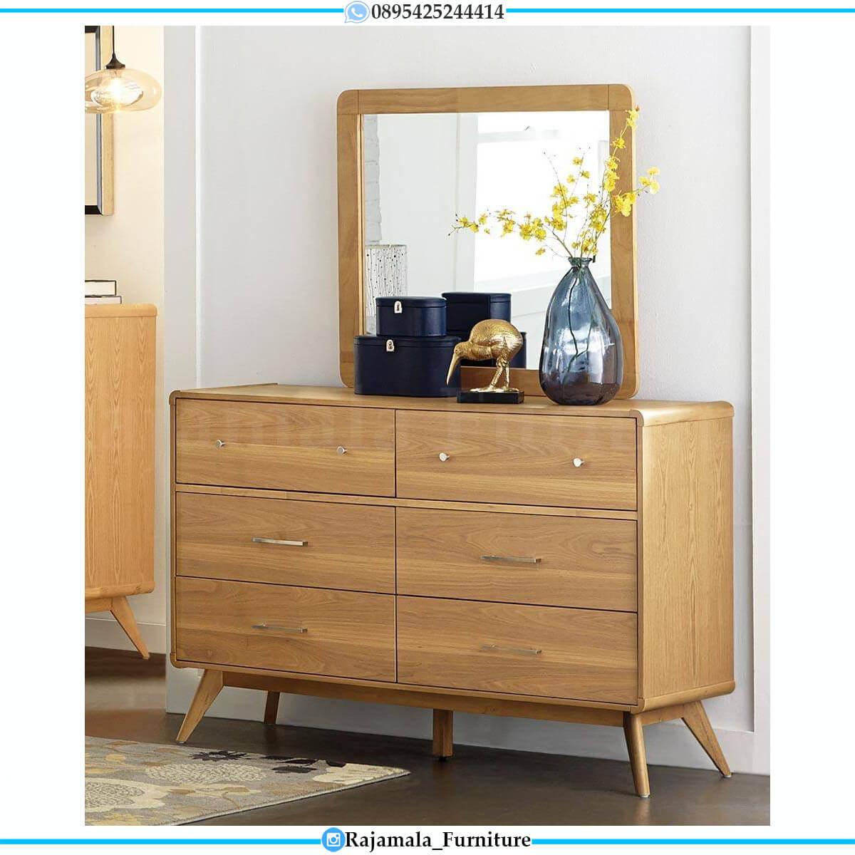 Desain Tempat Tidur Minimalis Jati Natural Color Furniture Jepara RM-0694