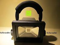 Kopf: as - Schwabe Chip-LED-Akku-Strahler 10 W, geeignet für Außenbereich, Gewerbe, blau, 46971