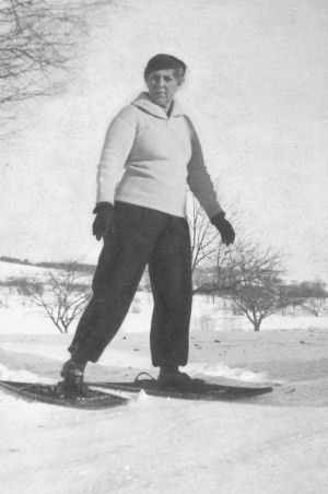 Granny on Snowshoes