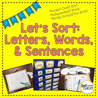Let's Sort: Letters, Words & Sentences