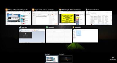 Switch between virtual desktops windows 10 | Win 10 multiple desktops