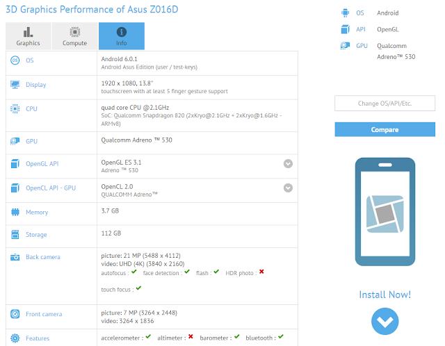 Tes GFXBench mengkonfirmasikan spesifikasi lengkap Asus Zenfone 3