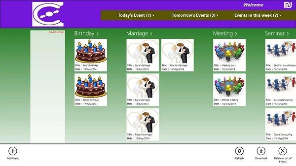 Event Calendar apps Windows 10