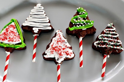 Christmas Tree Brownie Pops #christmas #snack