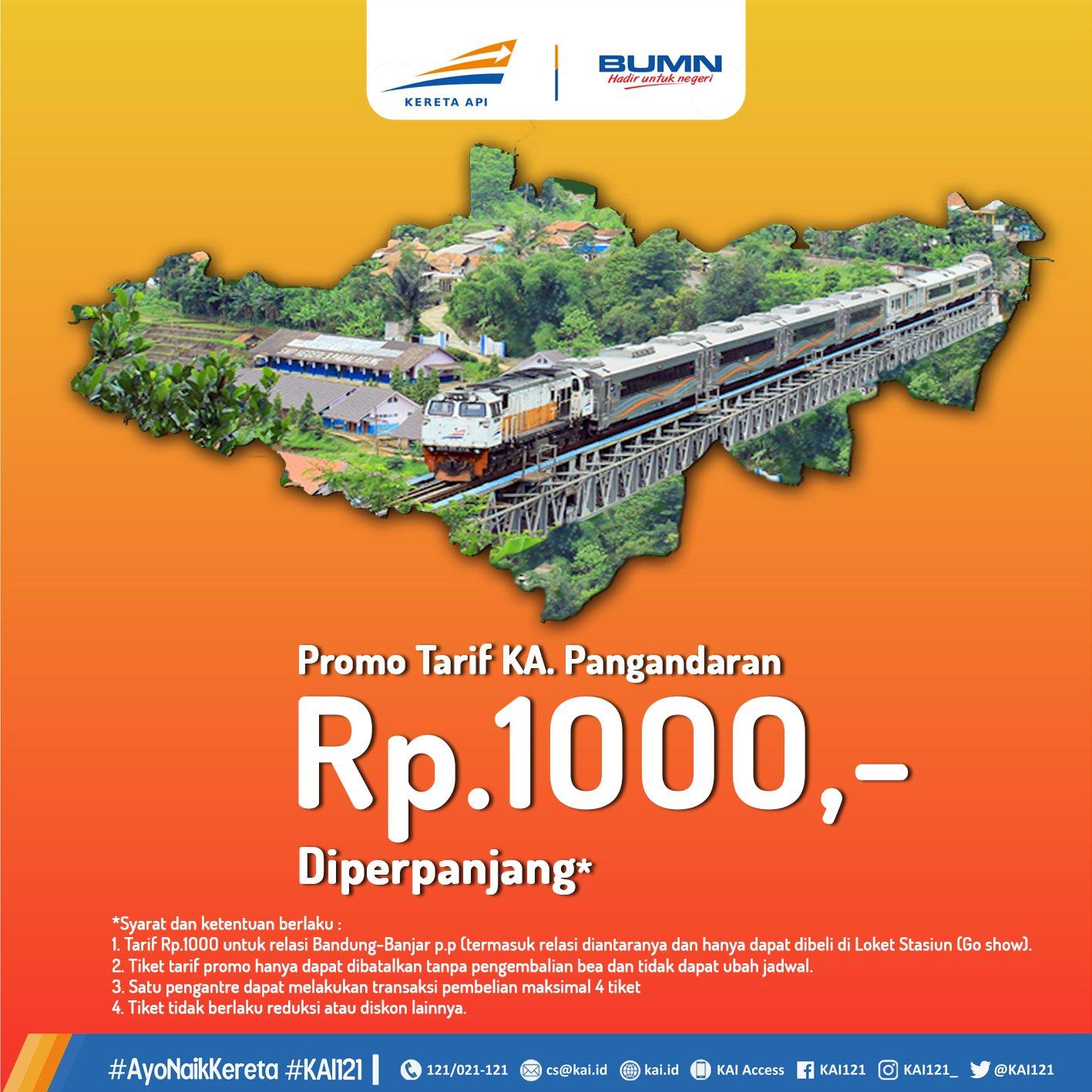 Promo Tiket Ka Pangandaran Bandung Banjar Rp 1000