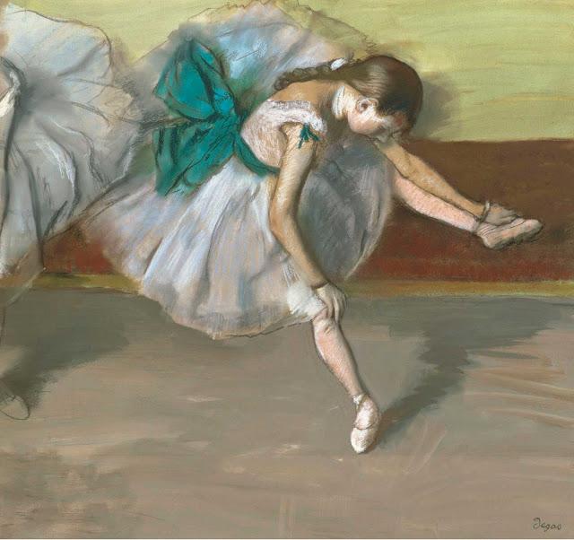 Эдгар Дега - Отдыхающая танцовщица (1879)