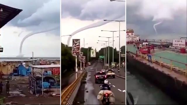 Heboh Video Viral Angin Puyuh Mengamuk di Cirebon