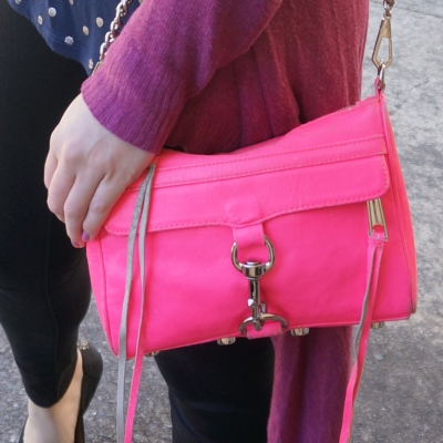 Rebecca Minkoff neon pink mini MAC | Away From The Blue
