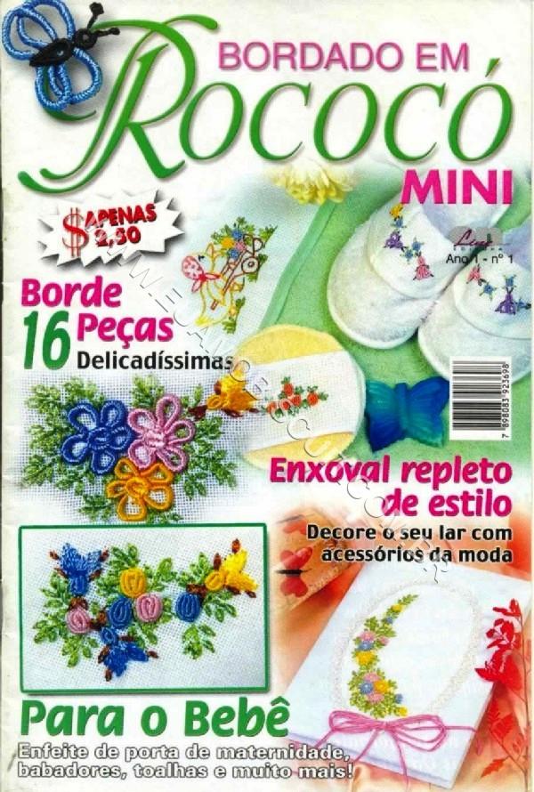 BORDADO EM ROCOCÓ-Revista