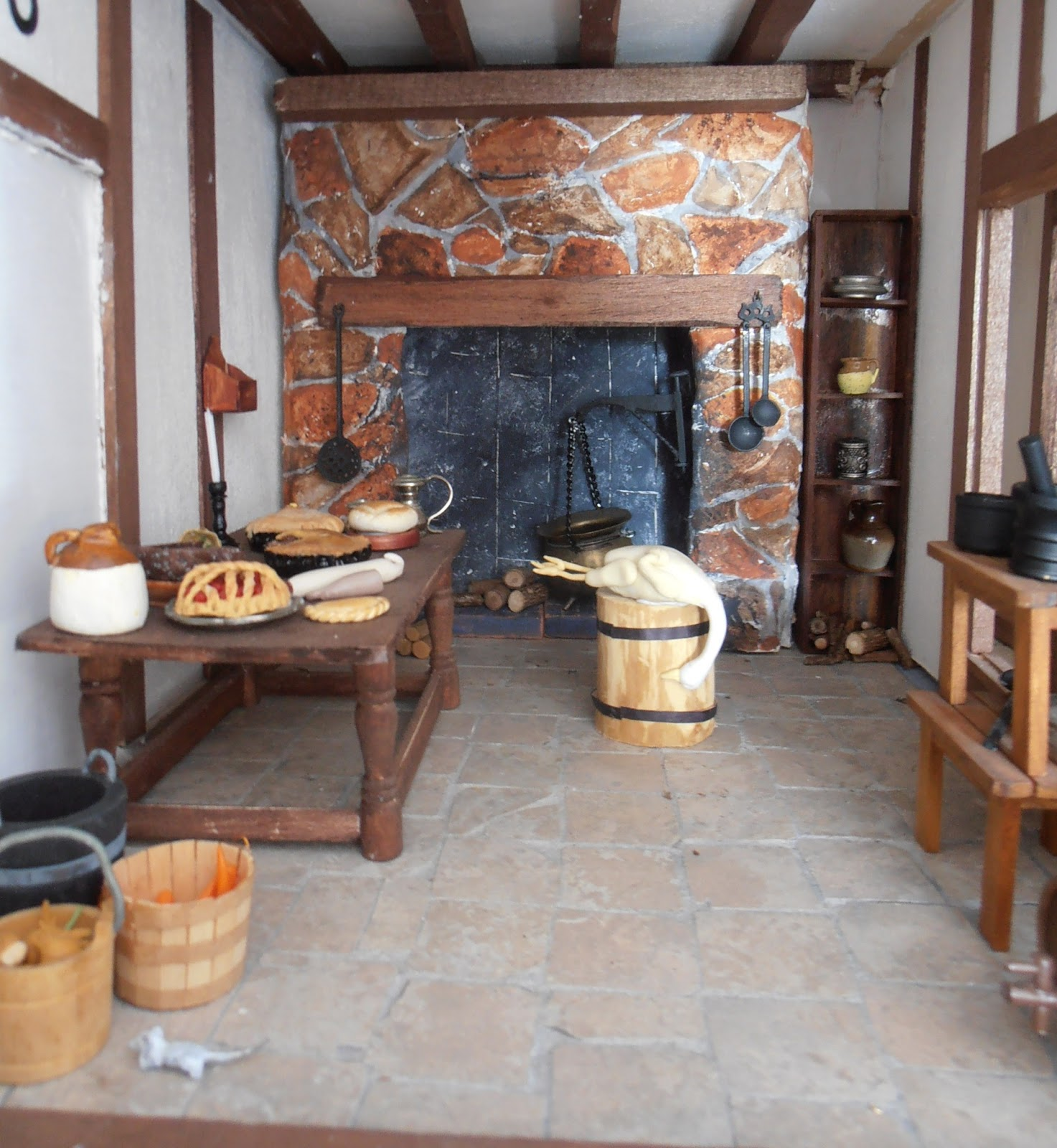 Dolls House Kitchen Furniture Dolls Houses And Minis Accessories For A Tudor Dolls House Kitchen