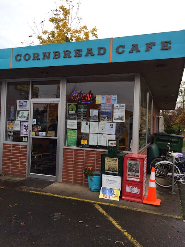 Cornbread Cafe is a vegan diner in Eugene, Oregon as seen on Diners, Drive-Ins as Dives