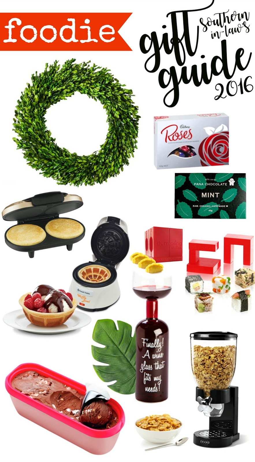 The Best Gift Ideas for Foodies 2016 - Food Lovers Christmas Gift Guide, Gift Ideas for Cooking, Kitchen, Baking, Hostess Gifts, Birthday, Anniversary
