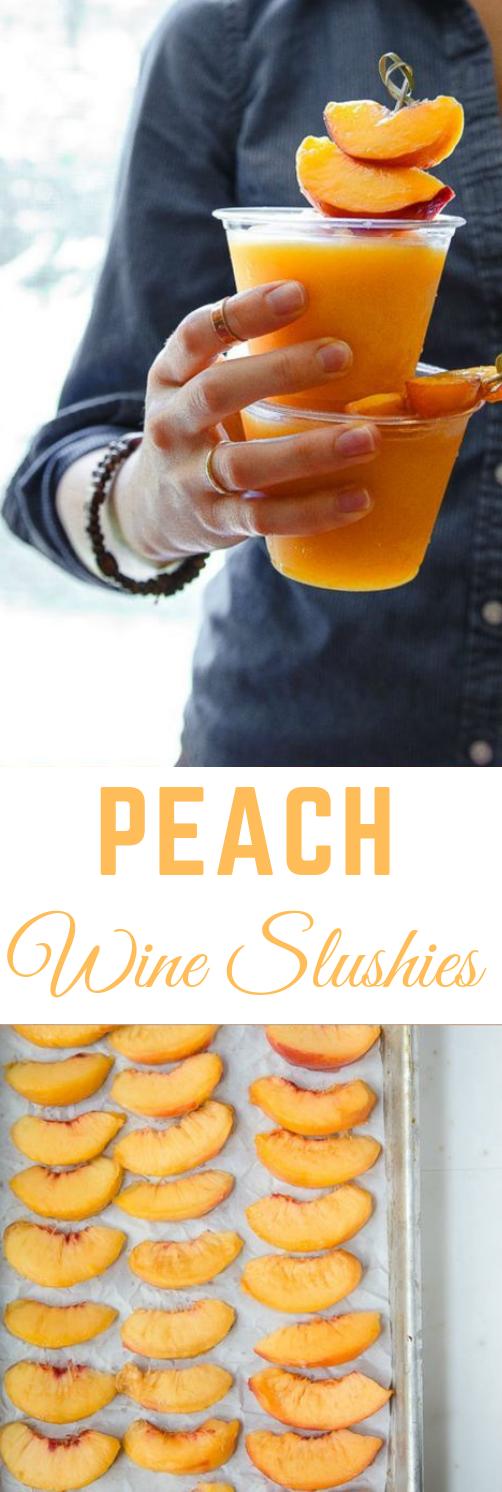 Peach Wine Slushies #peach #healthydrink