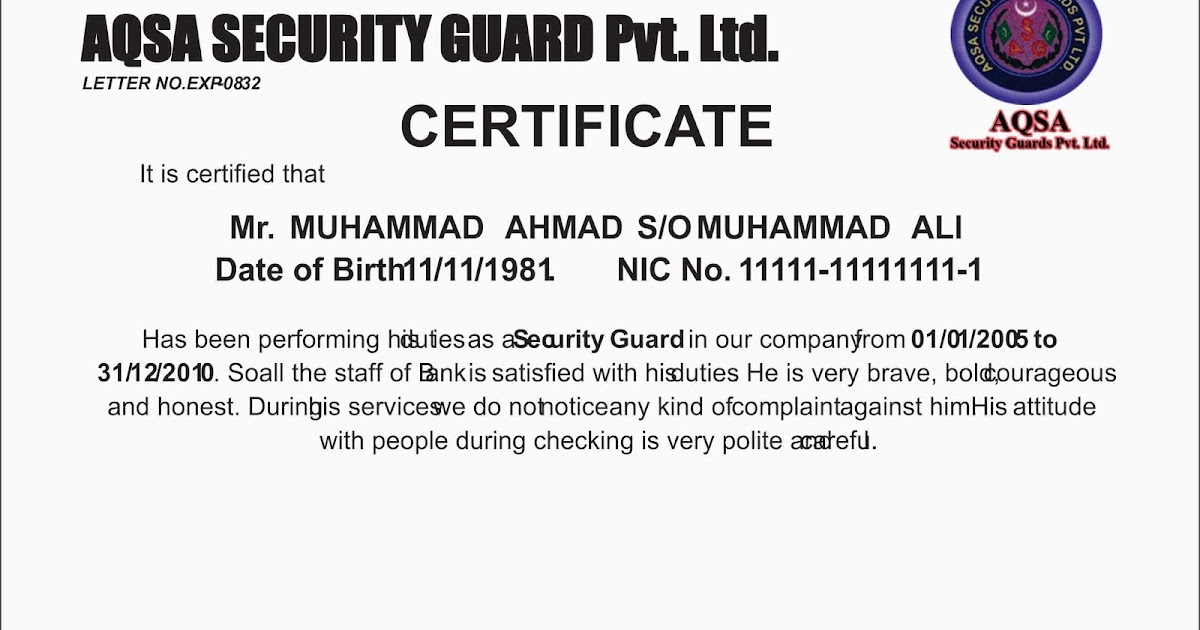 Goraya mobile and computer security guard experience certificate goraya mobile and computer security guard experience certificate download free sample yadclub Gallery