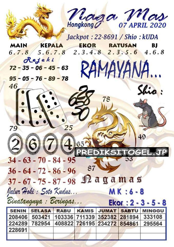 Prediksi HK Selasa 07 April 2020 - Syair HK Nagamas