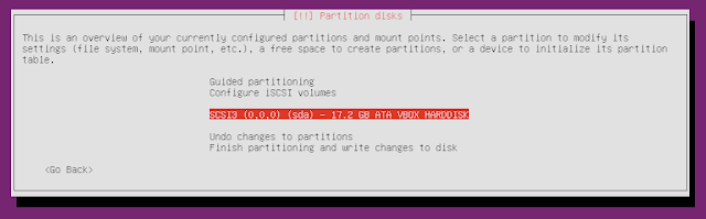 Ubuntu minimal CD select hard drive partition