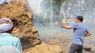 लाखन सिंह के पुरा पर लगी भीषण आग