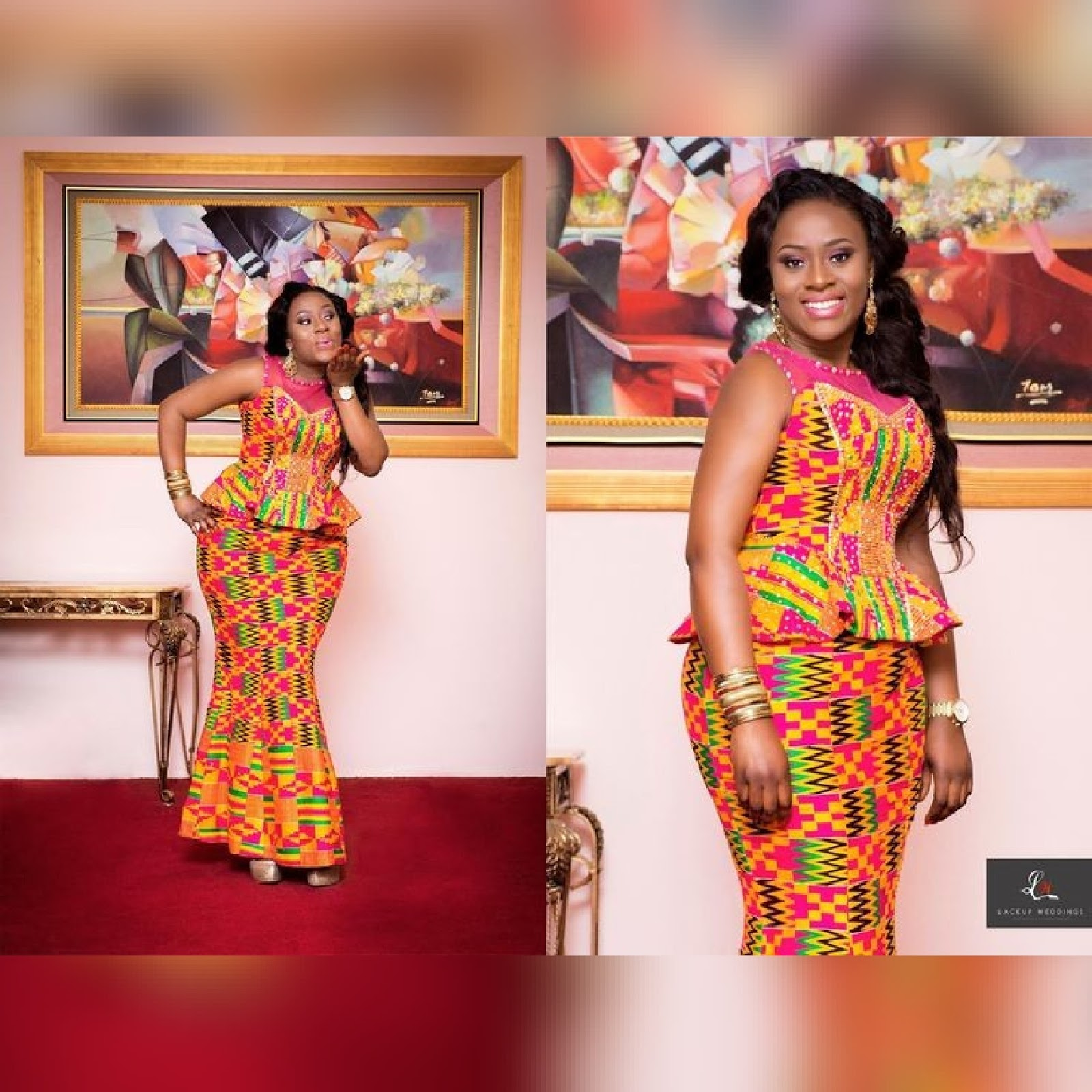 Kitenge Mixed With Lace Dresses