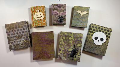 Journals printed with Halloween art