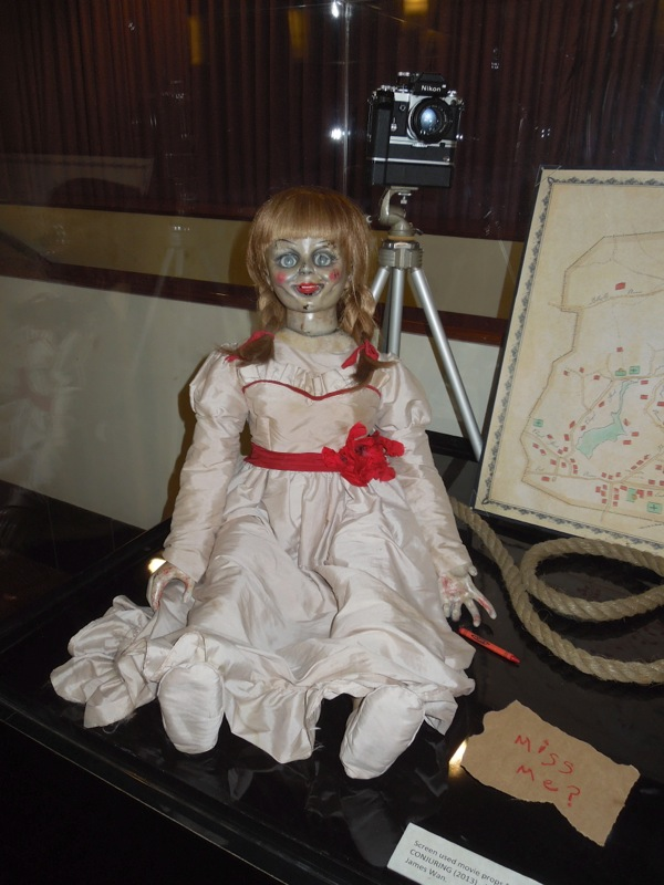 Conjuring possessed Annabelle doll prop