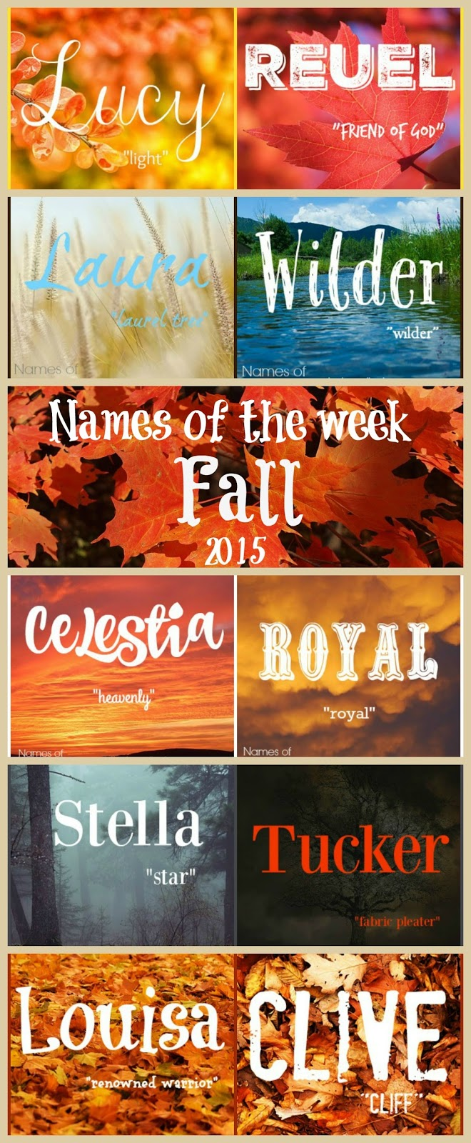 Beloved Baby Names: Fall 2015 Baby Name Wrap-Up