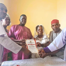 Nigerian woman in her 60s gets married for the first time (wedding photos)