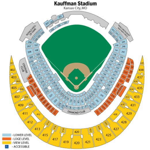 Kauffman Stadium Map on gila river arena map, spring mobile ballpark map, santa clara convention center map, royals seat map, starlight theatre map, u.s. cellular field map, o.co coliseum map, talking stick resort arena map, marlins ballpark map, pnc arena map, kauffman seating, truman sports complex map, dr pepper ballpark map, allen fieldhouse map, coors field map, kc royals seating map, braves field map, bramlage coliseum map, citizens bank park map, sports authority field at mile high map,